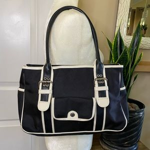 Tommy Hilfiger White Piping Shoulder Bag